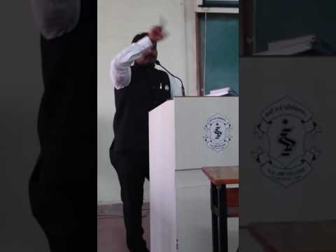 Shreerang Lale Inaugural speech of Competitive Cell at ILS Law college,Pune