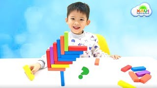 Learn colors for kids with JENGA BLOCK educational game - Xavi ABCKids