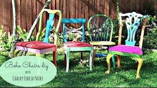 Give A Boho Look To Thrift Store Chairs