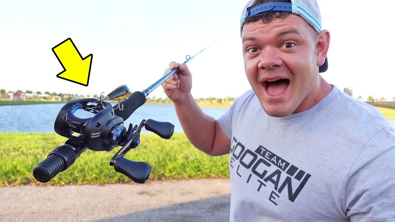 Baitcaster Reel Fly Fishing Rod Challenge!