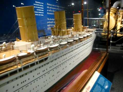 RMS empress of britain model at canada science and technology museum - YouTube