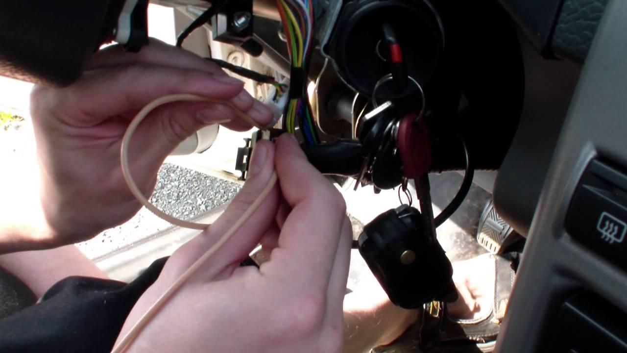 Как сделать кнопку запуска двигателя