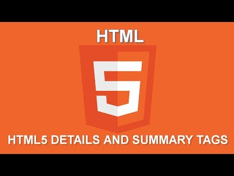 Lesson 12 HTML5 Details And Summary Tags