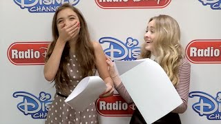 Rowan Blanchard and Sabrina Carpenter Girl Meets World Switch | Radio Disney Insider | Radio Disney