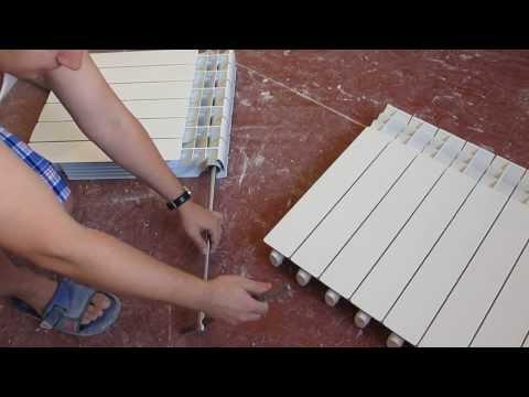 Как снять секцию с алюминиевого радиатора