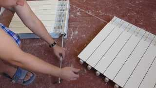 Алюминиевый радиатор отопления, как добавить скрутить секции, нарастить и открутить батарею(Пошаговая инструкция скручивания и раскручивания алюминиевого радиатора автономного отопления состоящей..., 2013-11-23T14:42:16.000Z)