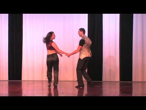 Gerald Cote and Robin Cote West Coast Swing Calgary Salsa Congress