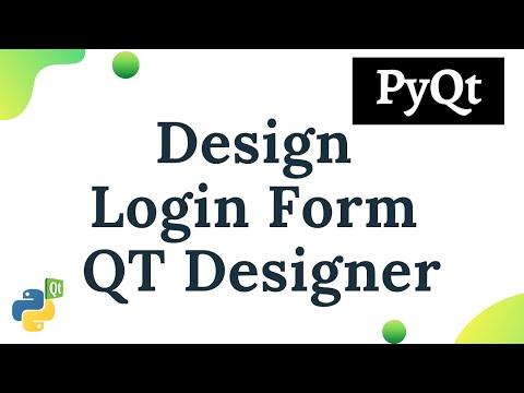 Python PyQt : Creating Login Form using Qt Designer