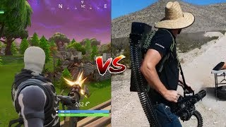 Fortnite Mini Gun VS Real Life Mini Gun!