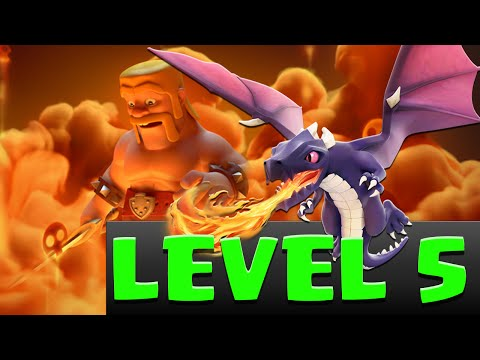 CLash of Clans Buying LVL 5 Dragon & 3 Star With Poison Spell Gemming update