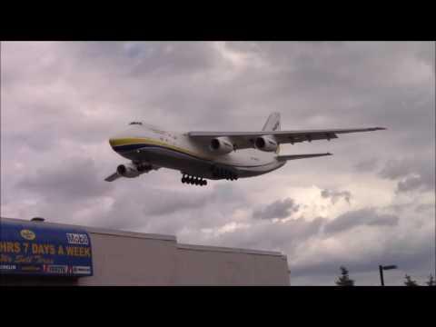 RARE: Antonov Design Bureau Antonov An-124 Ruslan [UR-82007] Landing in Toronto on RWY 23