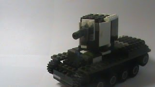 lego World of Tanks #24 - KV-2 (tutorial) / КВ-2 из лего инструкция