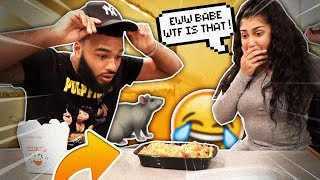 I LEFT A LIL SURPRISE IN MY GIRLFRIEND39S FOOD  VLOGMAS DAY 4