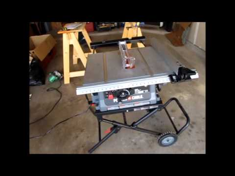 Diy tools series porter cable pcb220ts table saw in action youtube diy tools series porter cable pcb220ts table saw in action greentooth Choice Image