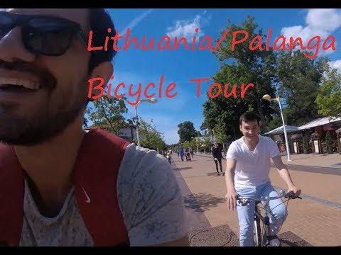 Lithuania Vlog / Palanga Bicycle Tour / J. Basanavičiaus Street
