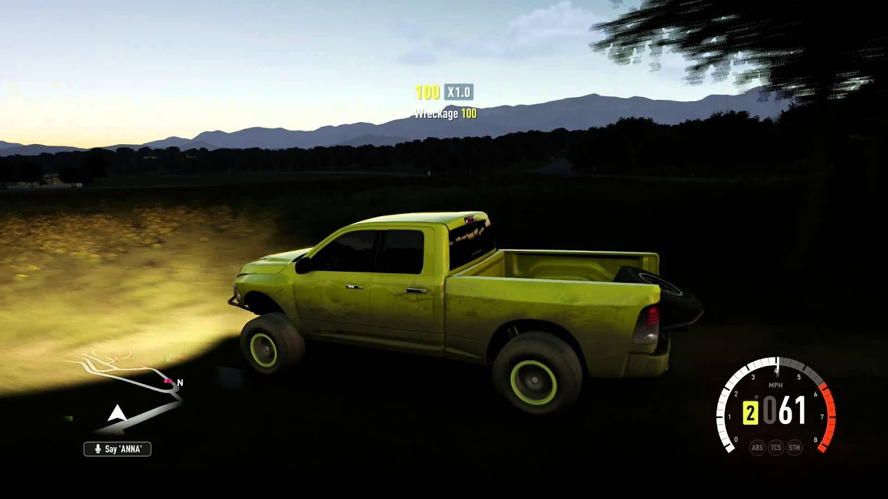 Forza Horizon 2 RAM RUNNER off roading and exploring the map prt 2