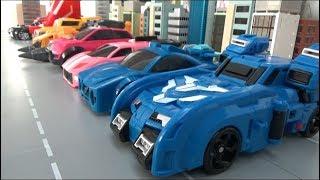 미니특공대X 9대 자동차 장난감 로봇 변신 Miniforce X 9 Car Toys Robot Transformation