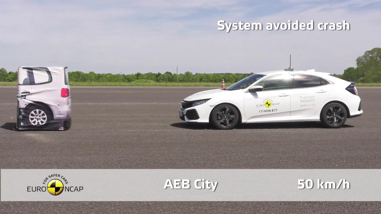Euro NCAP Crash Test of Honda Civic - YouTube