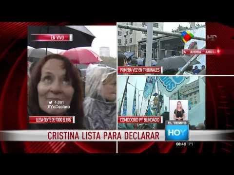 Agredieron a Mercedes Ninci en la marcha K en apoyo a Cristina