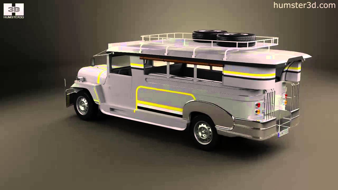 Willys Jeepney Philippines 2012 by 3D model store Humster3D.com - YouTube