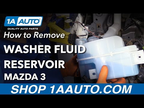 How to Replace Washer Fluid Reservoir 04-09 Mazda 3