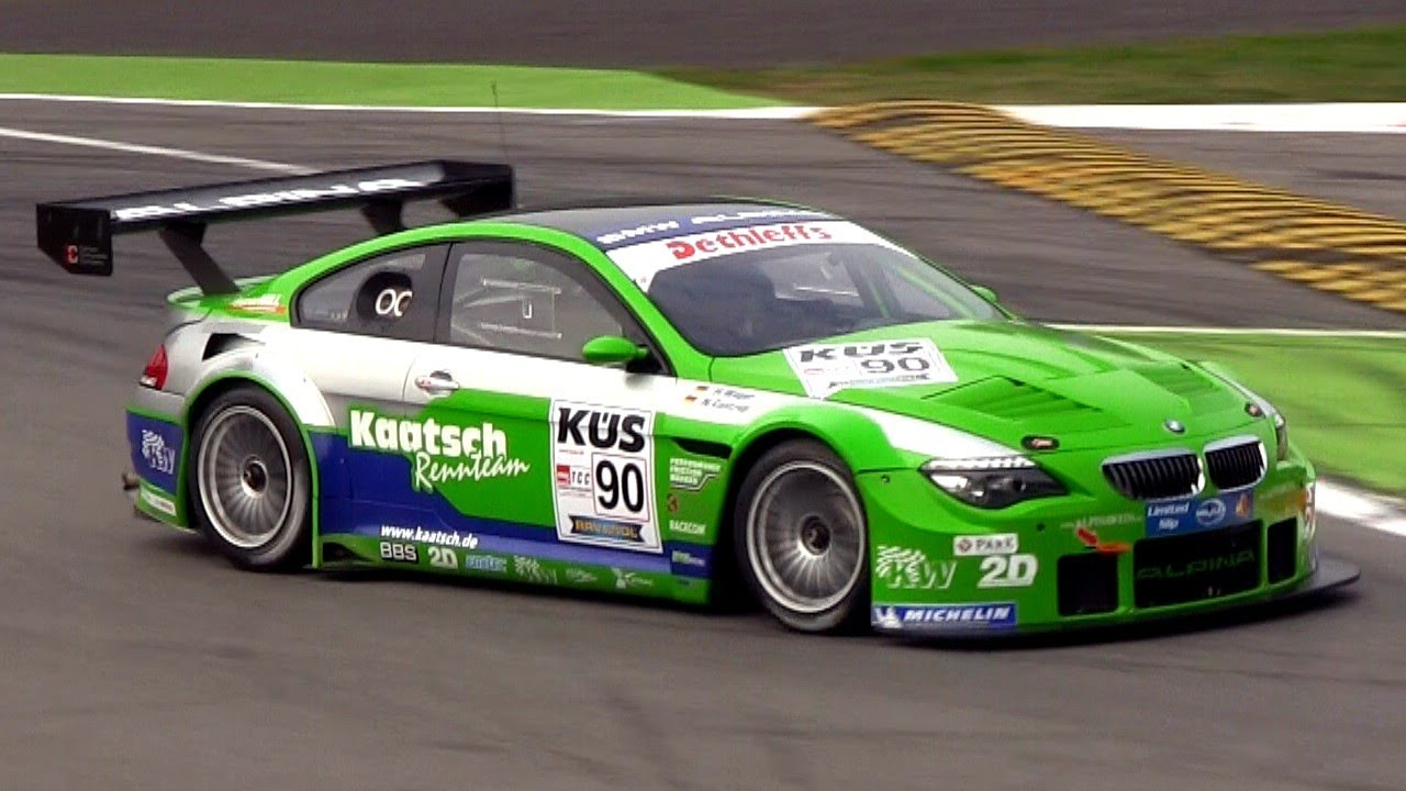 BMW Alpina B6 GT3 Sound In Action On Track - YouTube