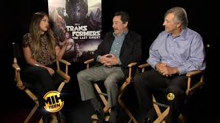 "Voice Actors Peter Cullen and Frank Welker on ""Transformers: The Last Knight"""
