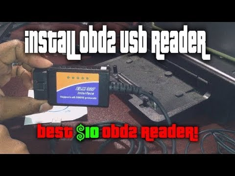 Install ODB2 Scan Tool On Your PC (Elm 327 USB Scan Tool/Engine Code Reader  on Windows 10)