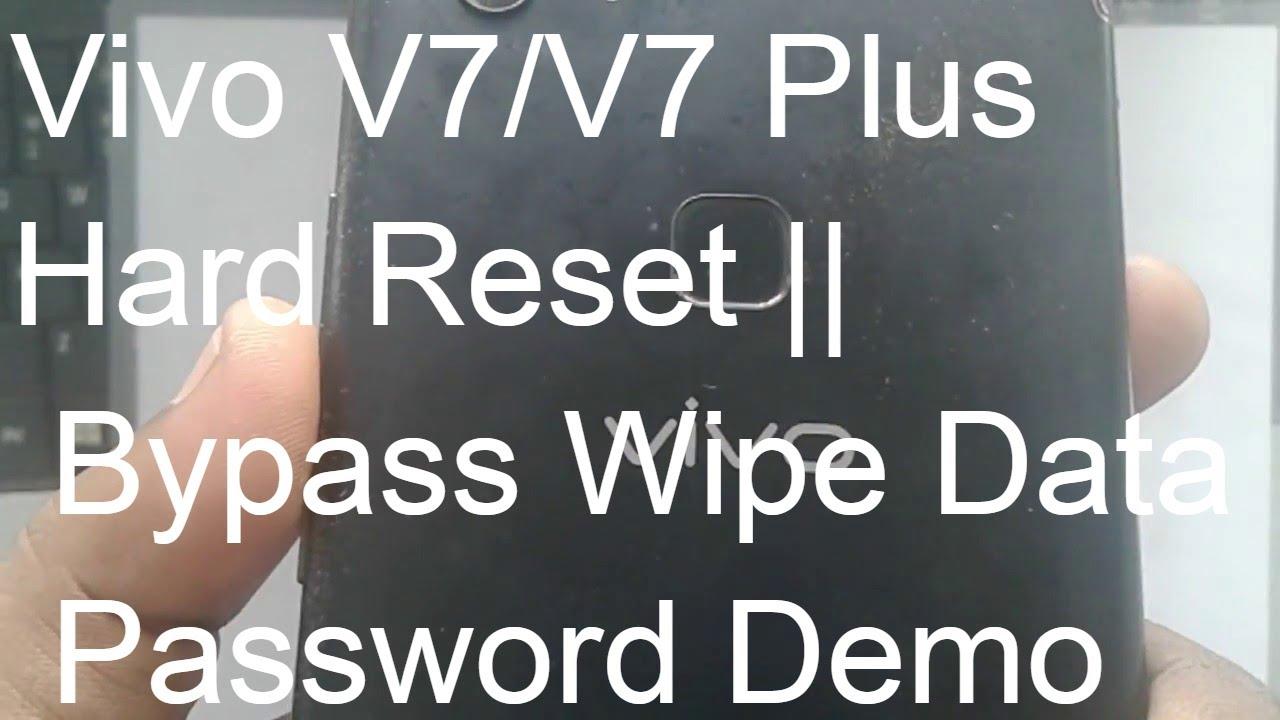 Vivo V7/V7 Plus Hard Reset || Bypass Wipe Data Password Demo