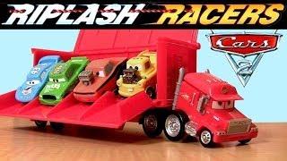 Cars Riplash Racers Mack Truck Launcher Disney Pixar Snot Rod + Funny Car Mater Rip Car Review
