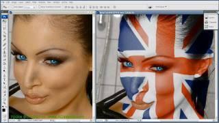 Фотошоп урок Как накладывать рисунок на тело(Как БЕСПЛАТНО сделать свой интернет в 2 раза быстрее за 5 мин: http://kurs-video.com В этом фотошоп уроке с сайта: http://www...., 2010-05-02T00:42:48.000Z)