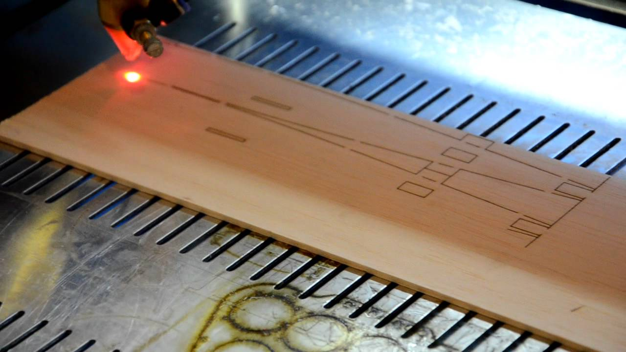 M350 50w Laser Cutting Balsa Wood 3mm - YouTube