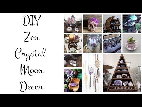 DIY Zen Crystal Moon Decor | 2018 ♡