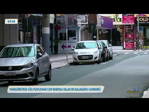 Parquímetros vão funcionar com energia solar em Balneário