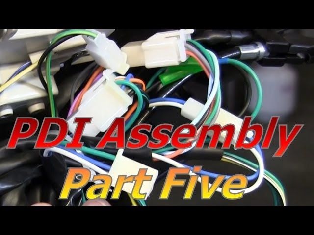 TaoTao ATM50-A1 Chinese Scooter PDI Assembly Part 5 : Wiring And Connectors  - YouTubeYouTube
