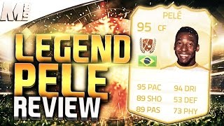 FIFA 15 UT - LEGEND PELE || FIFA 15 Ultimate Team 95 Legend Pele Player Review + In Game Stats