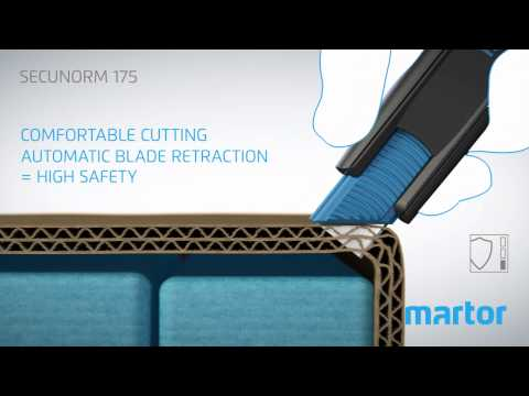Safety knife MARTOR SECUNORM 175 product video GB
