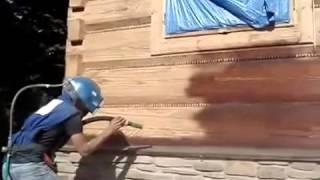 пескоструйка деревянного дома, пескоструйка дерева(, 2015-09-14T10:13:05.000Z)
