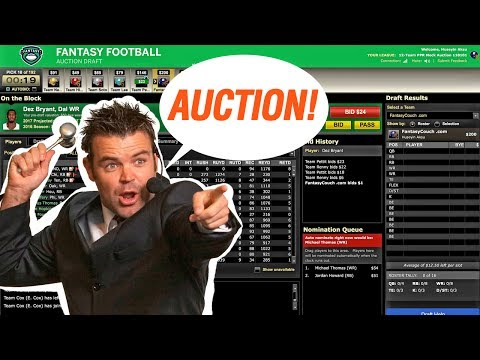 Fantasy Football Auction Mock Draft 2017 ESPN