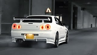 Nissan Skyline R34 - Turbo sounds and launch!