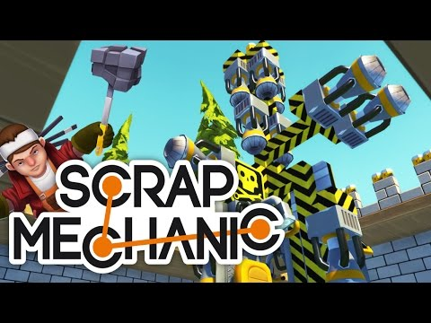 Scrap Mechanic - Best Controllable Rocket Jet Space shuttle jetpack with 2 pilots and more