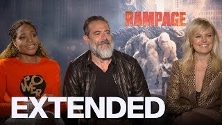 'Rampage' Cast Interview: Jeffrey Dean Morgan, Noamie Harris, Malin Akerman