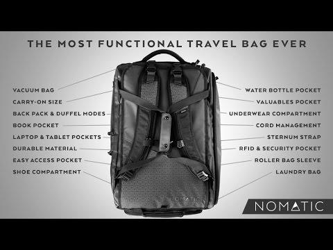300cdb64bb The NOMATIC Travel Bag (Kickstarter) - YouTube