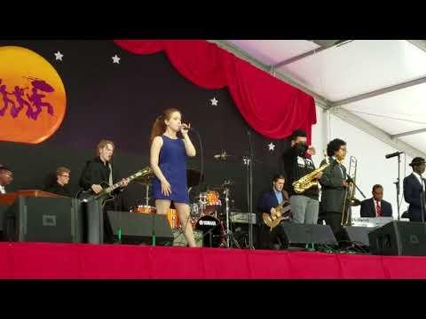 Jake Wojcik on guitar @ Jazz Fest 2018 w/Tipitina's Interns