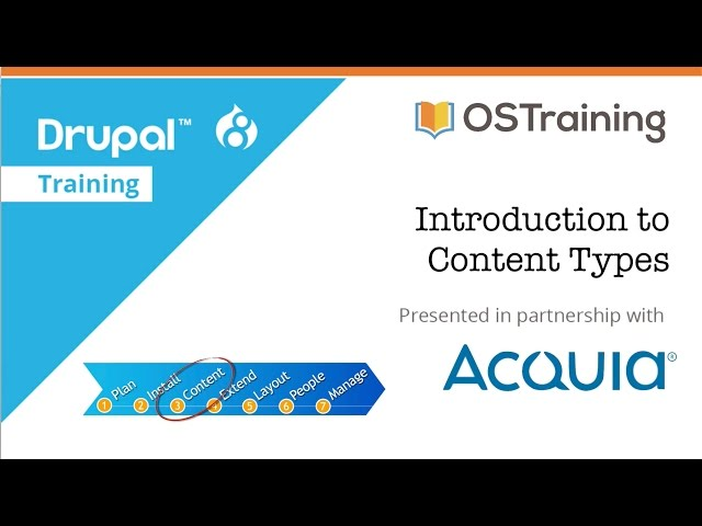 Drupal 8 Beginner, Lesson 16: Introduction to Content Types