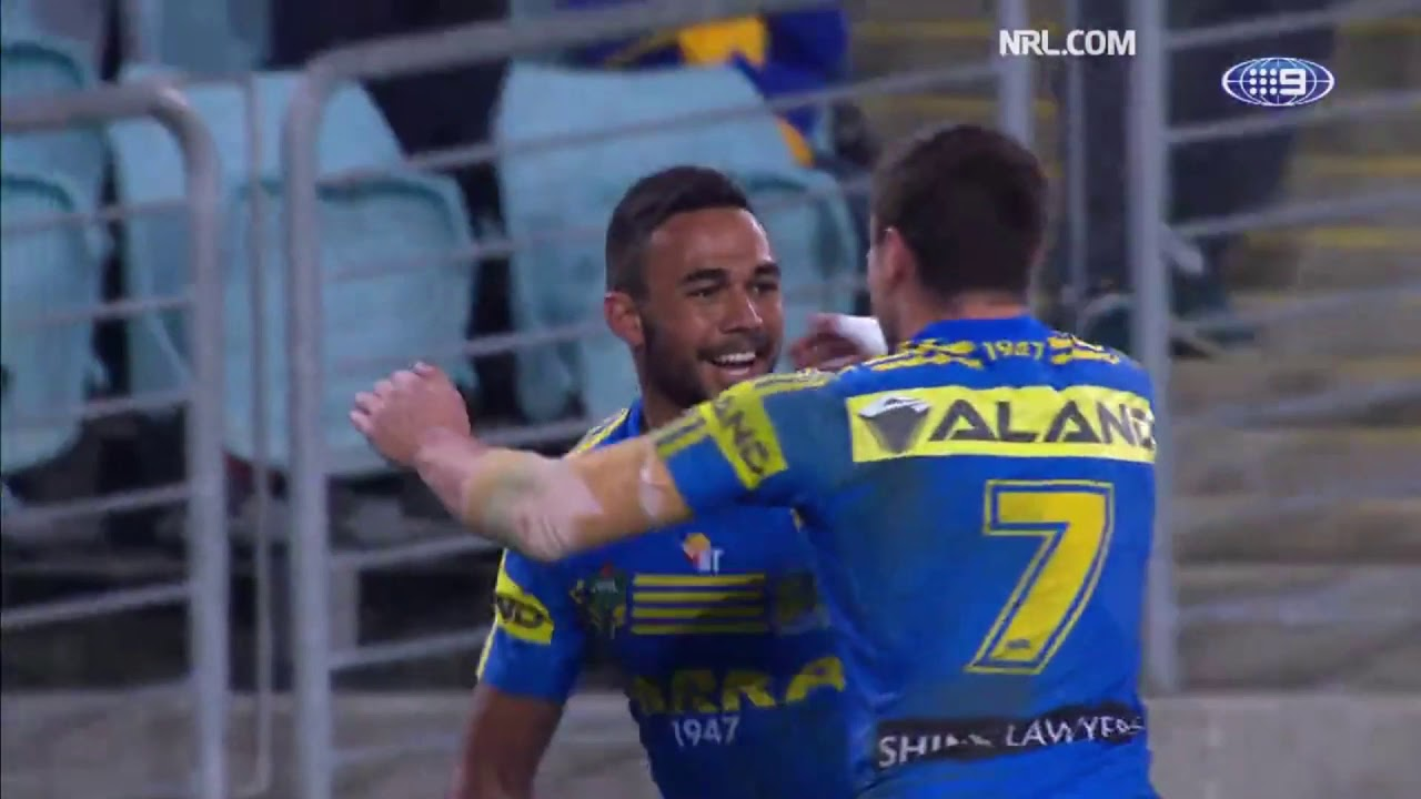 Eels vs Bulldogs Round 17, 2017 Highlights - YouTube
