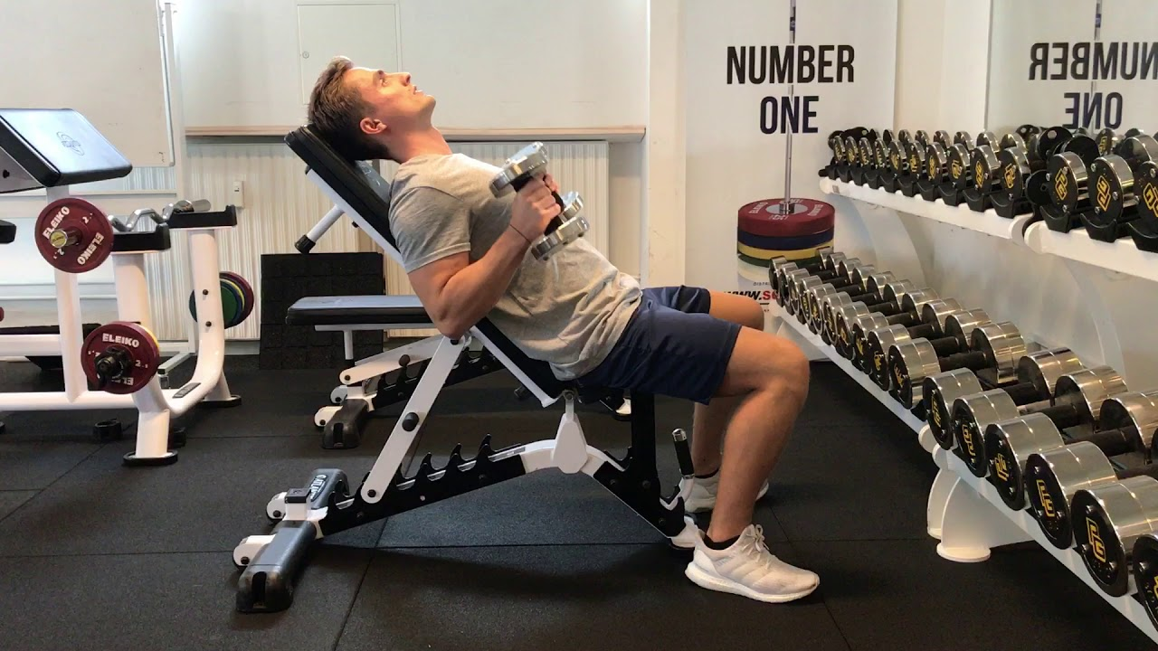 Spider Curls Incline Bench Part - 46: DB Incline Bench Curl - 45 Degree - Neutral