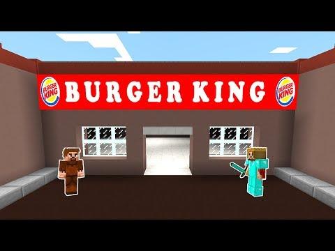 FAKİR BURGER KİNG YAPTIRIYOR! 😱 - Minecraft thumbnail