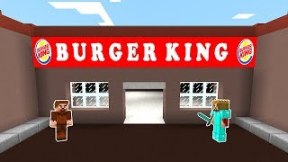FAKİR BURGER KİNG YAPTIRIYOR! 😱 - Minecraft