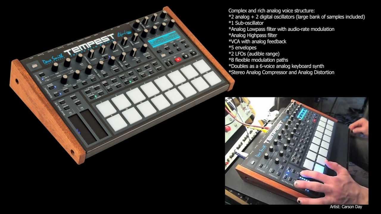 Dave Smith Instruments Tempest Analog Drum Machine Video Compilation